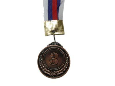 фото Медаль наградная с лентой, d - 65мм ( цвет