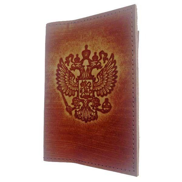 фото Кожаная обложка на паспорт
