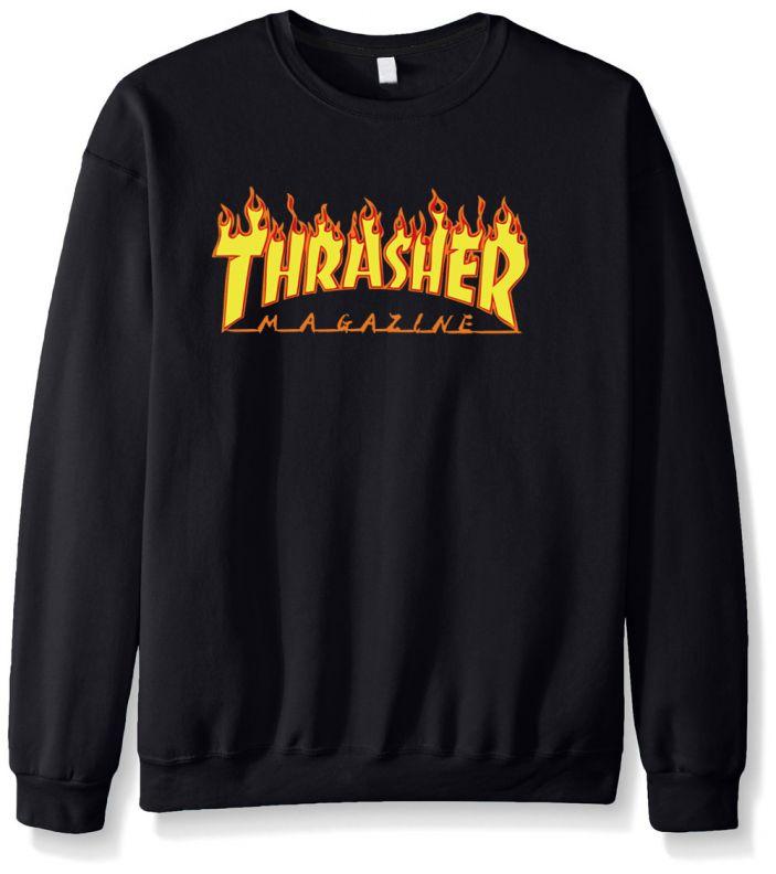 фото 2016 новый осень зима смешные толстовки sweatshit harajuku моды трэшер футболка хип-хоп флис бренд громила мужчины кофты
