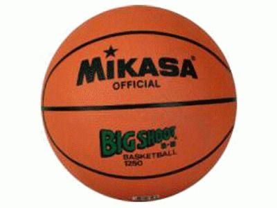 фото яч баскетбольный MIKASA. Игровой и тренировочный мяч для общеобразовательных учреждений.Утвержден FIBA - логотип FIBA Approved. Износостойкая резина, нейлоновый корд, бутиловая камера, размер №5 1250