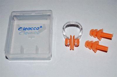 фото Набор для плавания (зажим для носа +беруши) в коробочке C-0317