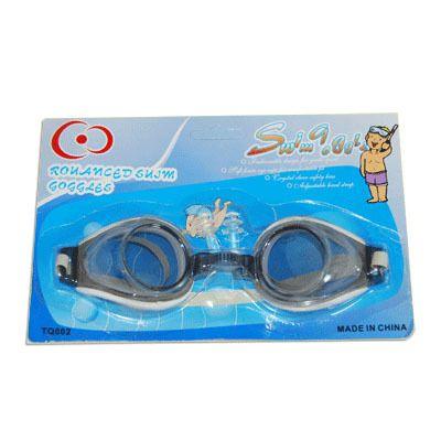 фото Очки для плавания детские с бирушами (на блистере). ТQ 002