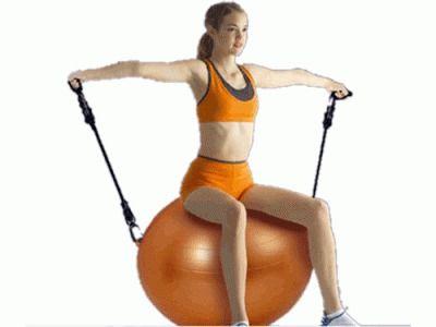 фото Мяч для фитнеса с эспандером