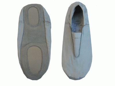 фото Чешки гимнастические кожаные, цвет белый, р-р 38