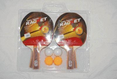 фото Набор пин-понг 4 ракетки+4 шарика в блистере 4223