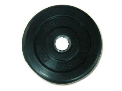 фото Диск SLS GYM обрез. чер. D-26mm. 2,5 кг