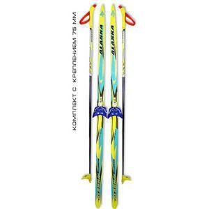 фото Беговые лыжи STC (лыжи, крепления 75мм, палки) 195 см