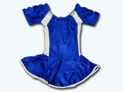 фото Купальник гимнастический модельный с юбкой. Состав: полиэстер. Размер S. Цвет: сине-белый. 2008