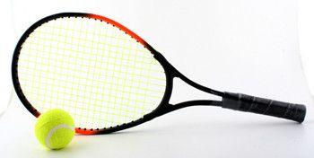 фото Ракетка для бол. тенниса и мячик, в сетке, арт. Т801