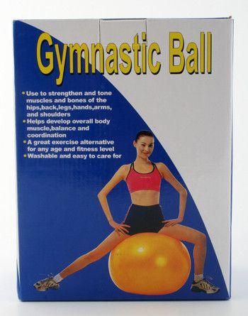 фото Гимнастический мяч 55см, 750гр, в цв. кор, арт. GB55