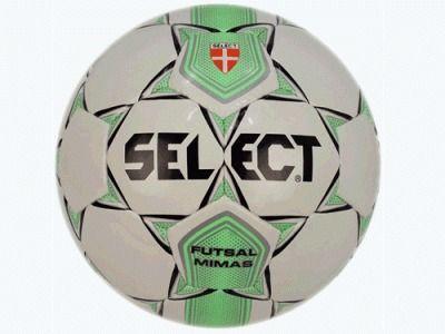 фото Мяч футзал SELEKT Futsal mimas ( глянц, ПУ, бут. камера, ручная сшивка, /бел.-зел.-сереб./) 852608-084