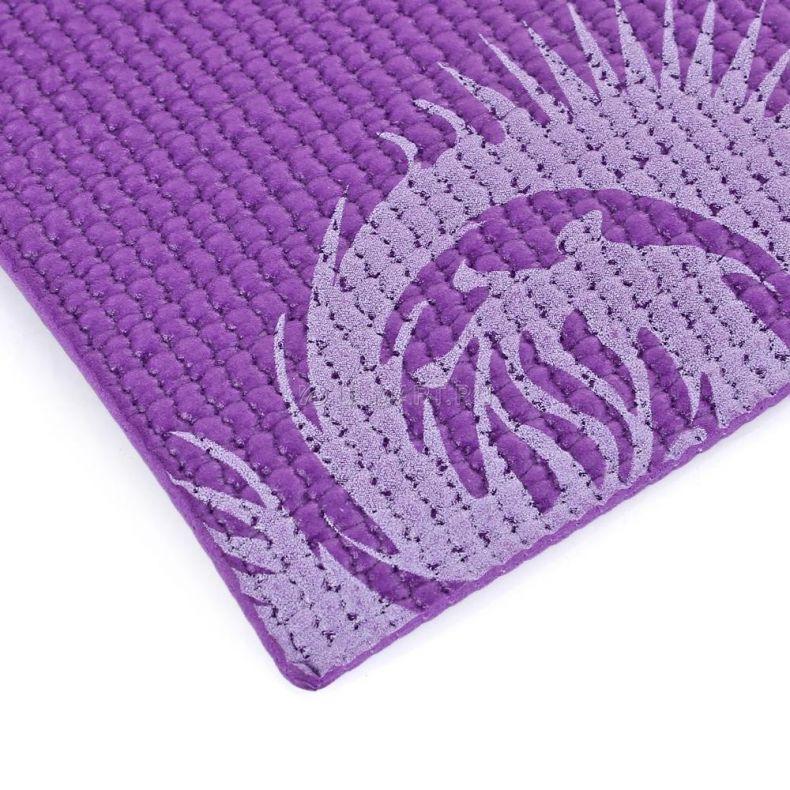 фото Коврик для йоги и фитнеса INDIGO, 173х61х0.3 см, фиолетовый , IR 97502-3 Purle