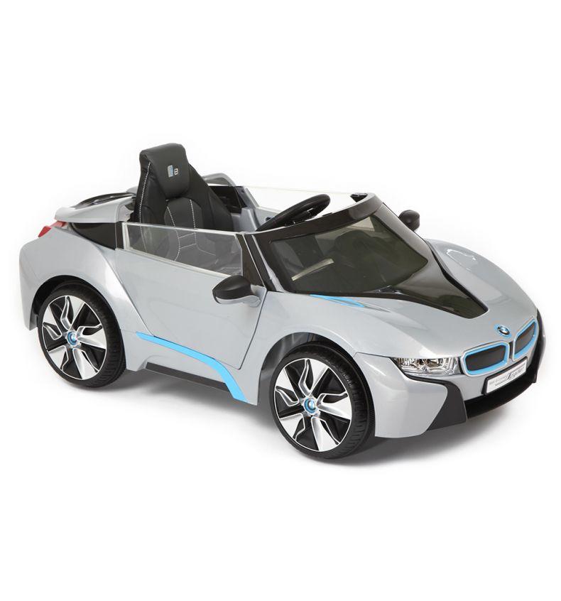 фото РОЛПЛЕЙ,Электромобиль 3-8 лет,W480-A01 (СЕРЕБР),BMW i8 Concept Spyder,аккум.,1 мест.,пульт Д/У,MP3,К