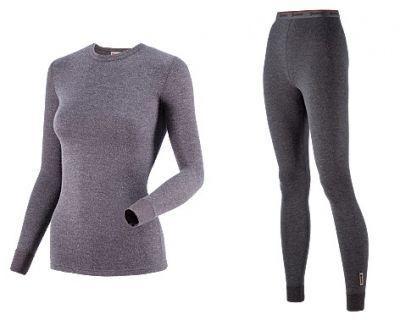 фото Комплект женского термобелья Guahoo: рубашка + лосины (21-0611 S/DGY / 21-0611 P/DGY) [XL (50) 176-100-106]