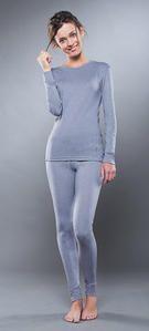 фото Комплект женского термобелья Guahoo: рубашка + лосины (261S/GY / 261P-GY) [XL(50)/176-100-106]