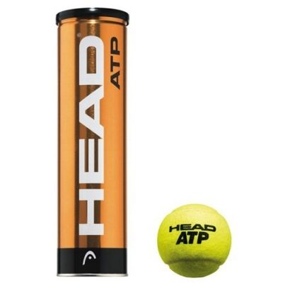 фото Мяч теннисный HEAD ATP 4B,арт.570314,уп.4 шт,одобр.ITF,сукно,нат.резина,желтый Мяч теннисный HEAD ATP 4B,арт.570314,уп.4 шт,одобр.ITF,сукно,нат.резина,желтый