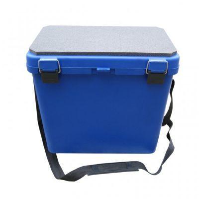 фото Ящик для зимней рыбалки пластик односекционный Тонар Helios [синий]