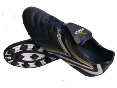 фото Бутсы футбольные SPRINTER , верх - PVC, подошва - резина, круглые шипы, р-р 45. Цвет: тёмно-синий+белый AX2325 (11)