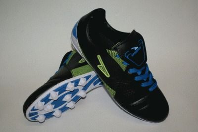 фото Бутсы футбольные SPRINTER, верх - PVC, подошва - резина, круглые шипы, р-р 38. Цвет: черный, синий, зеленый. AX7309-38 BLACK/BLUE/FL