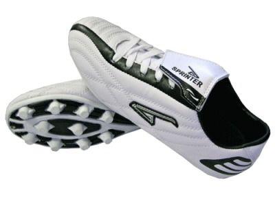 фото Бутсы футбольные SPRINTER, верх - PVC, подошва - резина, круглые шипы, р-р 40. Цвет: белый. AX7207 (2)