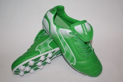 фото Бутсы футбольные SPRINTER, верх - PVC, подошва - резина, круглые шипы, р-р 40. Цвет: зеленый, белый. AX5390-40 GREEN/WHITE
