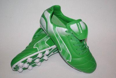 фото Бутсы футбольные SPRINTER, верх - PVC, подошва - резина, круглые шипы, р-р 41. Цвет: зеленый, белый. AX5390-41 GREEN/WHITE