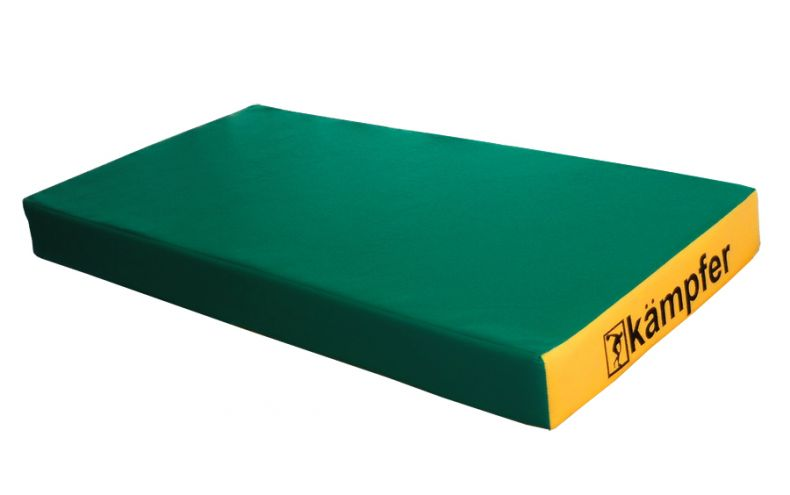 фото Kampfer Мат №1 (100 х 50 х 10) - винилискожа [зеленый/желтый]