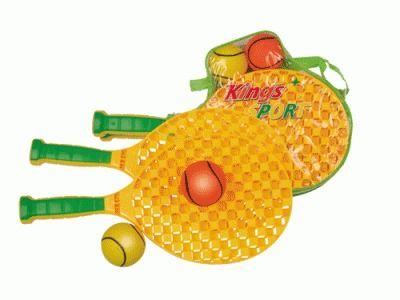 фото Набор ракеток для пляжного бадминтона+2 мягких мячика. Длина ракетки 39см 10001