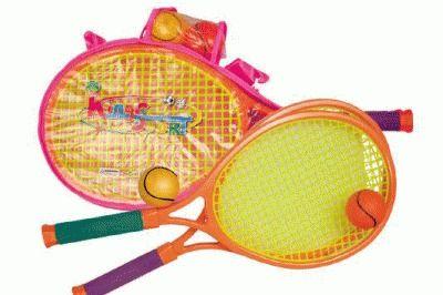 фото Набор ракеток для пляжного бадминтона+2 мягких мячика. Длина ракетки 57 см, ручка с неопреновой накладкой. 10881H