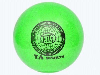 фото Мяч для художественной гимнастики. Диаметр 15 см. Цвет зелёный. Т11