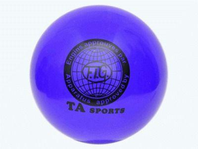 фото Мяч для художественной гимнастики. Диаметр 15 см. Цвет синиий. Т11