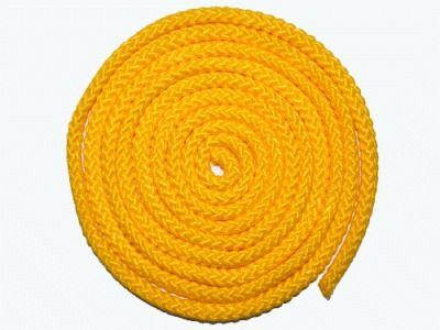 фото Скакалка гимнастическая, цветная ткань. Длина 3 метра. Цвет жёлтый. АВ251