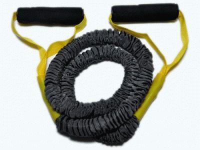 фото Эспандер латексная трубка с ручками в тканевой оплетке (желтый) 6LB WX-44