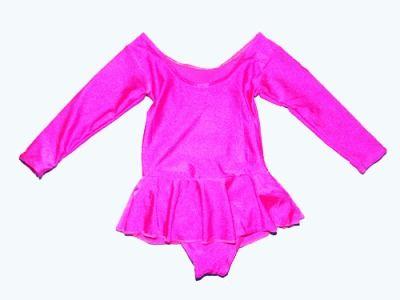 фото Купальник гимнастический с юбкой. Состав: полиэстер. Размер М. Цвет розовый. 2012