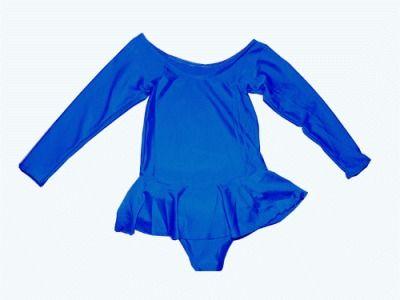 фото Купальник гимнастический с юбкой. Состав: полиэстер. Размер М. Цвет синий. 2012