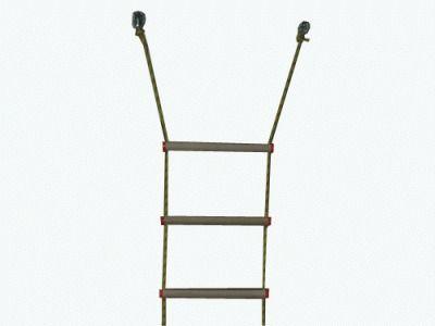 фото Лестница верёвочная 7 ступеней, дерево. Предназначена для детей дошкольного и школьного возраста весом до 30 кг.