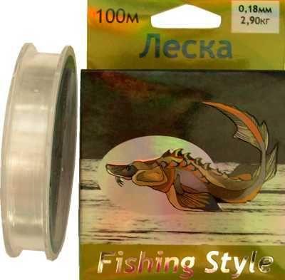 фото Леска Fishing Style RL2925 0.18mm тест 2.90кг 100m
