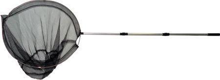 фото Подсачек круглый d40см черный, телескопическая ручка 60-150см