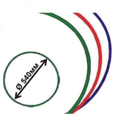 фото Обруч гимнастический пластмассовый диаметр 540 мм Владспортпром