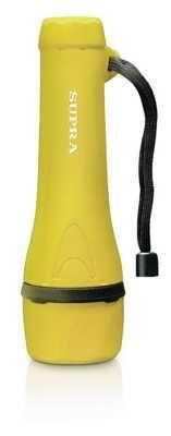 фото Фонарь ручной SUPRA (LED-3) SFL-R-3L-2AA светодиодный резиновый (yellow) влагоустойчивый, водонепроницаемый
