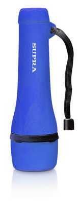 фото Фонарь ручной SUPRA (LED-3) SFL-R-3L светодиодный резиновый (blue) влагоустойчивый, водонепроницаемый