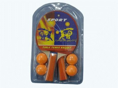 фото Набор для настольного тенниса. В наборе 2 ракетки, 4 шарика. 1070