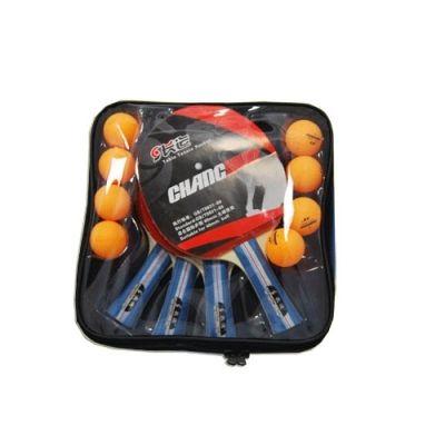 фото Набор для н/т (4 ракетки тренировочные + 8 шариков ) в чехле. BB02S075